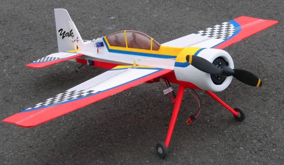 Name: Yak 54 w:cowl.jpg Views: 359 Size: 72.5 KB Description: Depron blt. 6 & 3mil. Turnagy motor flys fine w/slight wt. penalty for cowl.