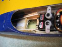 Name: Temp 1 021.jpg Views: 560 Size: 58.8 KB Description: Another view. Push rod tubes supported with balsa ramps.