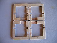 Name: Toba 024.jpg Views: 460 Size: 214.9 KB Description: Nice CNC wooden servo frames, but I am not sure what servos fit in them. I probably will use 761's throughout the wing, and not use these...