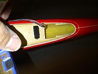 Name: Tracer Nose open.jpg Views: 81 Size: 153.2 KB Description: Before battery or servos.