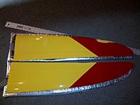 Name: IMG-20121110-00339.jpg Views: 194 Size: 179.4 KB Description: Top of tips. I will touch up the red if you are bothered by it. Its a race plane; for me, it doesn't matter!