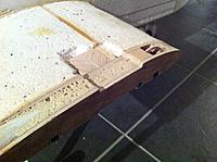 Name: IMG_3562.jpg Views: 135 Size: 252.4 KB Description: wooden block stuck to webbing in wing - this will have a large bolt through it to hold the wing on - clamping pieces are screwed and glued to wing top and bottom