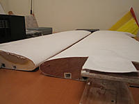 Name: foamcores.jpg Views: 165 Size: 73.8 KB Description: wings covered with wbpu varnish and paper, quite a smooth finish!