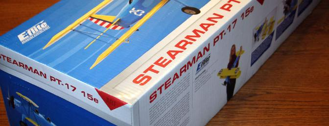 Colorful and attractive packaging.  The pictures on the box make you just want to rip the box open and get the Stearman into the air!