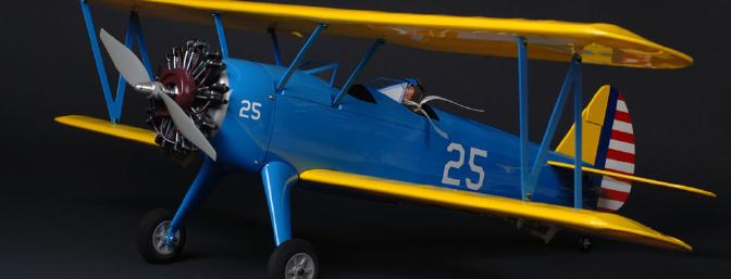 The Stearman before the dry-brushing on the exhaust manifold.