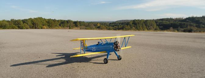 OK, I'll let you in on a little secret:  This is really a model airplane, not the real thing.