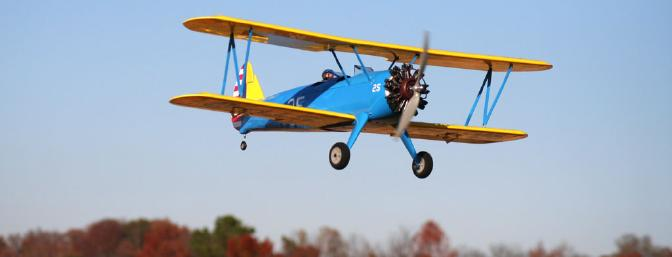 Would you just look at those fall colors.  Come on, who are we kidding?  Check out that Stearman!