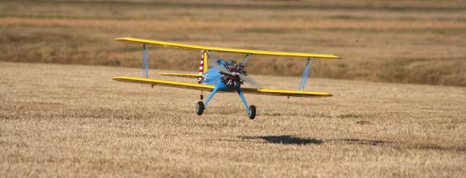 The Stearman is very forgiving when it comes to landing.