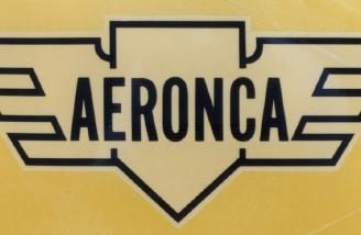 The Aeronca logo was usually found on the vertical stabilizer on the Champs.