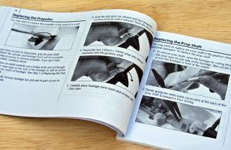 Wondering how to replace that broken prop?  Well, hurry on over to Page 18 in the manual for the details.