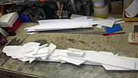 Name: 20150213_161038.jpg Views: 247 Size: 527.2 KB Description: I cut the paper patterns with a box cutter, then transferred them to Depron with a ink pen.