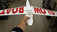 Name: 20150319_084452.jpg Views: 263 Size: 392.3 KB Description: Wings glued on...... spar extensions in an X pattern.....