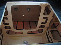 Name: 20120603_3781.jpg Views: 188 Size: 46.7 KB Description: The lip on the backside of the firewall will provide a resting place for my battery box. Note that the opening in the bulkhead has had the lower corners squared to provide the rear support for the battery box, which will be inserted at about a forty-five