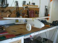 Name: Tuffy 1f.jpg Views: 1552 Size: 83.0 KB Description: On the plane.  It will have enough up angle to get lift on takeoff hopefully.