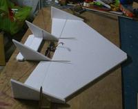 Name: NewPlane1.jpg Views: 156 Size: 66.4 KB Description: This is an approxiamate mock-up of the projected boomer.  Ailerons are part of the wing as figured in the previous picture.