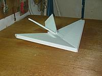 Name: UnNamed 1.jpg Views: 87 Size: 102.1 KB Description: Styrofoam Paper plane variant.  It will morph a bit but this is 1.5 hours into the build.