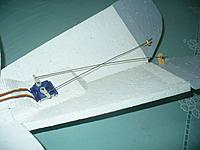 Name: Gull (13).jpg Views: 225 Size: 104.3 KB Description: I use the same setup for elevons as for Vee-Tail and it requires crossing the pushrods for correct operation.