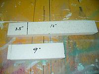 """Name: GTF (21).jpg Views: 111 Size: 111.6 KB Description: I mark and cut two peices, one 16"""" long and the other 9"""" long.  Cut a 45 degree angle on the back of each piece and mark the 16"""" piece at 3.5"""" from the front."""