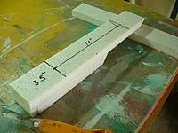 """Name: GTF (24).jpg Views: 112 Size: 126.9 KB Description: Draw a straight line to mark the trailing edge locatiion on the 16"""" piece and then draw a center line between the two marks.  Also glue the bottom piece to the 16"""" piece to complet the bottom of the front fuselage."""
