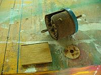 """Name: GTF (37).jpg Views: 105 Size: 143.8 KB Description: Use a hole saw for cutting a 1"""" to 1.25"""" disk for the front motor mount reinforcement."""