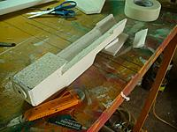 Name: GTF (46).jpg Views: 101 Size: 136.0 KB Description: Cut a notch in the back of the fuselage to take the tail the same way you did the wing saddle.  Make sure it is straight and level so the tail sits with no angle, no incidence and is in line with the fuselage centerline.