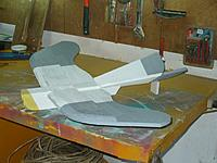 """Name: Gull 2 1.jpg Views: 104 Size: 120.7 KB Description: Splash on your chosen paint scheme.  I'm copying the original with grey wing tips and ruddervators and a """"Beak-Yellow"""" nose."""