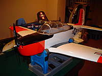 Name: DSC00158.jpg Views: 326 Size: 56.4 KB Description: Hangar9 T34 Mentor ARF 40size ARF converted to E-Power with Power 46 and CC Phoenix Ice 100A