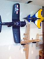 Name: IMG_0150.jpg Views: 306 Size: 75.7 KB Description: PKZ Corsair, Art-Tech EF2000 and Guillows B17 hanging on in my RC room wall