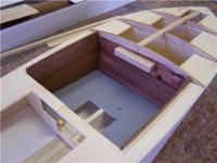 Name: CCH 21.jpg Views: 920 Size: 54.4 KB Description: The mahogany cockpit panels were stained with Red Oak and glued in place.