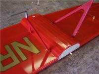 Name: MLA 46.jpg Views: 426 Size: 57.0 KB Description: The Center Section was covered and the graphics applied. The ailerons were hinged and hooked up to finish the wing.