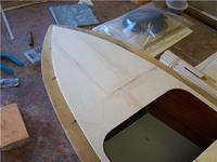 Name: CC3 45.jpg Views: 434 Size: 49.9 KB Description: The foredeck sub planking is in place and sanded.