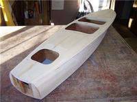 Name: CC3 47.jpg Views: 557 Size: 59.4 KB Description: The balsa edge fill is added and carved to rough shape.