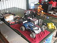 Name: IMG_0595.jpg Views: 60 Size: 106.8 KB Description: my pit table: The blue EFS is mine, the red one in the back is my son's!