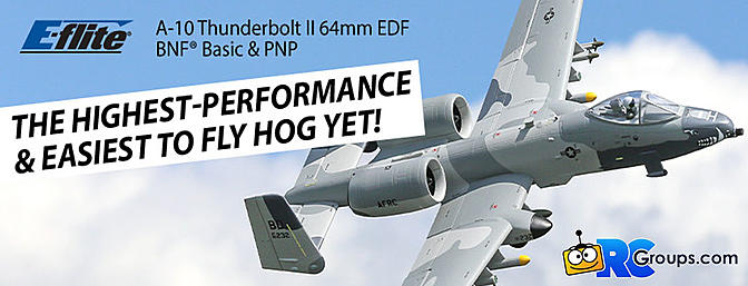 The ALL-NEW E-flite A-10 Twin 64mm EDF BNF Basic/PNP...The Easiest to Fly Hog Yet!