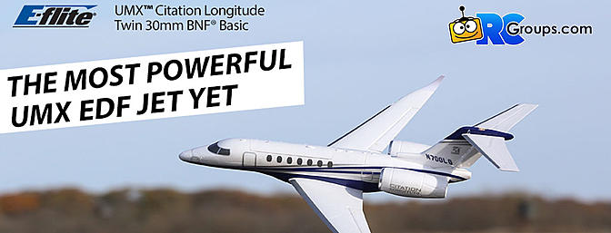 The ALL-NEW E-flite Citation Longitude Twin 30mm EDF...The most powerful UMX  EDF yet