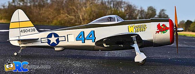 """The ALL-NEW Hangar 9 P-47 Thunderbolt 58.4"""" PNP - Easily transition from foam to wood"""