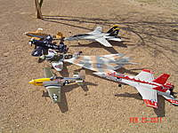Name: Another flying day.jpg Views: 119 Size: 138.7 KB Description: Jets and warbirds again, some jets I've crashed  : (