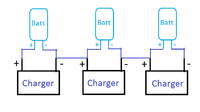 Can I use 3 x single-cell lipo charging circuits to charge a 3s lipo