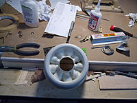 Name: SAM_2904.jpg Views: 42 Size: 206.2 KB Description: Starting to cut inbetween the dummy radials (bad picture).
