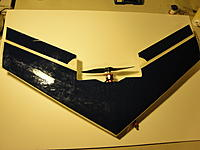 Name: DSC01257.jpg Views: 116 Size: 120.0 KB Description: Bottom. Check out the cut on the left aileron - the result of me harassing a friends nitro plane!