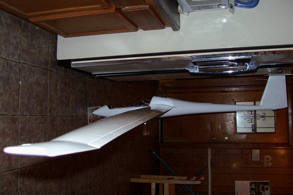 """Name: 100_0555.jpg Views: 311 Size: 60.1 KB Description: Although 5.2 meters and 1/5th scale, this sailplane is big!  the fuselage is close to 6 feet long, about 5'10""""."""
