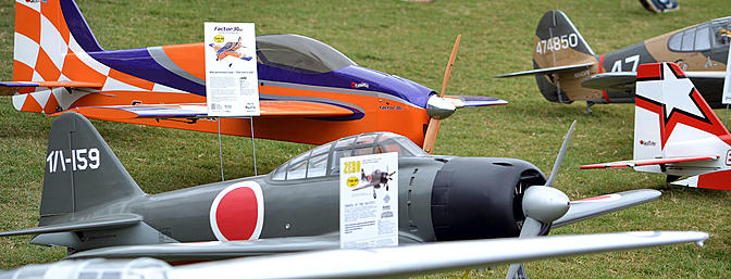 A selection of scale and sport planes from the Hobbico booth