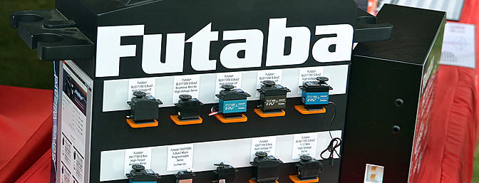 This nice Futaba display showcases servos from a GIANT servo