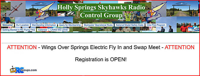 Wings Over Springs Electric Fly In and Swap Meet