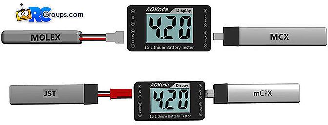 AOKoda AOK-041 1S Lithium Battery Tester