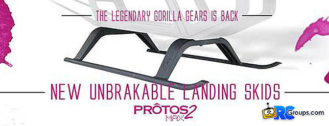 Protos Max Red/Yellow Gorilla Landing Gear