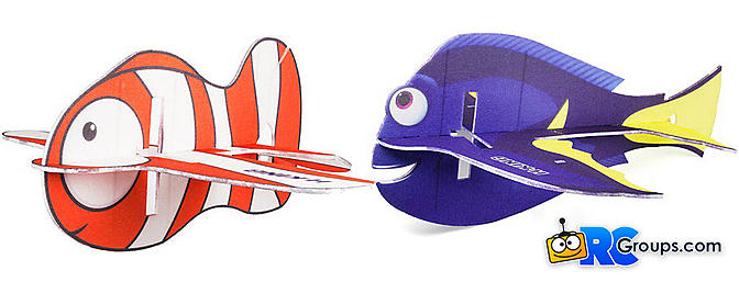 H-King Glue-N-Go Clownfish and Blue Tang EPP 850mm Kits