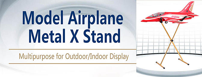 FMS Model Airplane X Display Stand / Holder V2
