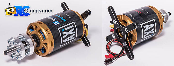 AXI 5345 and 5360 Brushless Motors with Telemetry