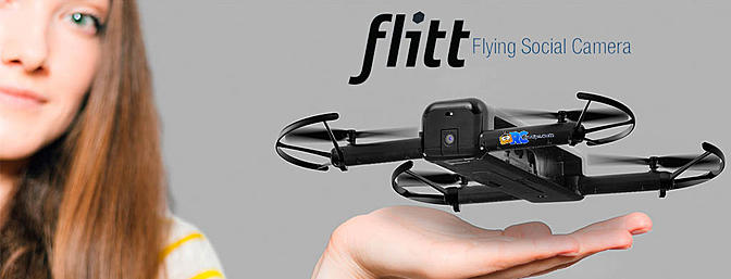 Hobbico Flitt Flying Pocket Sized Camera Drone